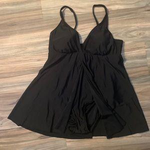 Croft & Barrow Split Front Swimsuit